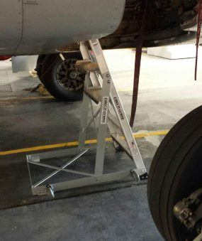 6' Gear & Wheel Well Cadet Ladder in compartment on Boeing 737 side shot