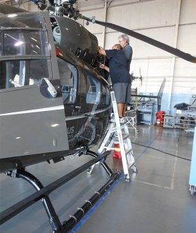 6 Foot Helicopter Pylon Ladder On Airbus Helicopter
