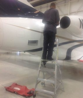 6' LNC Pylon Engine Ladder on Embraer Phenom 100 tail