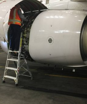 6 Foot Lnc Pylon With Technician Working Inside Engine Of Boeing 737