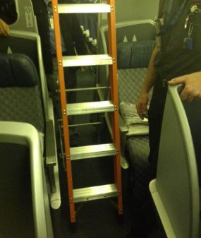 7' Airline Interior Cabin Ladder in action