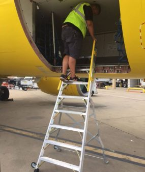 8 Foot Lnc Pylon 320 With Tech In Cargo Bin Area Of Airbus A320