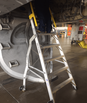 8 Foot Lnc Pylon 320 With Technician In Wheel Well Of Airbus A320