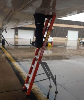 8' Fiberglass MRO Cadet General Aviation Ladder in MD11