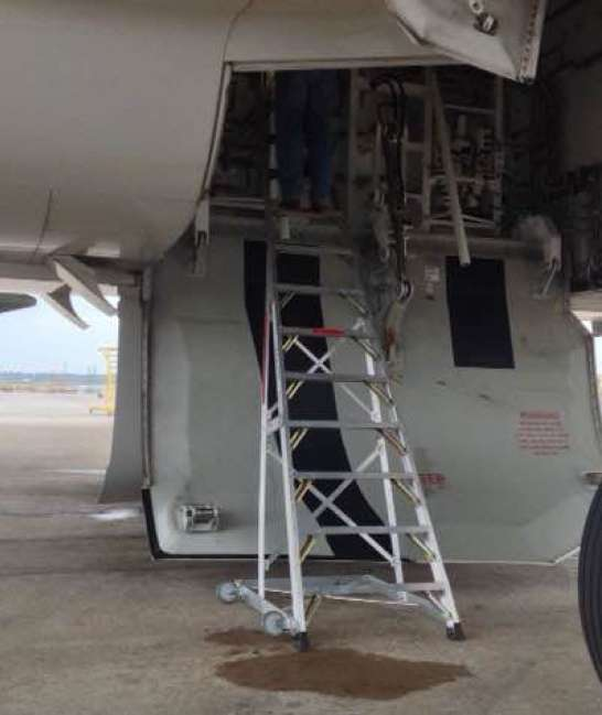 13' Gear & Wheel Well Cadet Ladder in wheel compartment of Boeing 787