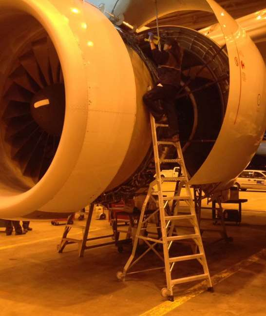 13' LNC Pylon Engine Ladder in Boeing 777 engine erea