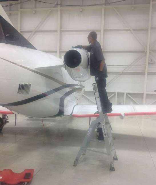 6' LNC Pylon Engine Ladder on Embraer Phenom 100 engine