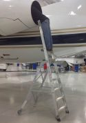 10' LNC Pylon Engine Ladder in Embraer Legacy 450 engine rear