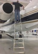 10' LNC Pylon Engine Ladder on Embraer Legacy 450