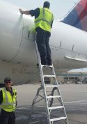 11' LNC Pylon Engine Ladder on MD80-90 Series Aircraft on tarmac