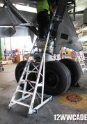 12' Gear & Wheel Well  Cadet Ladder in wheel well of Boeing 767 second shot