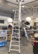 13' LNC Pylon Engine Ladder on delta fin of Learjet 60