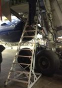 15' Gear & Wheel Well Cadet Ladder on front side of gear door of Boeing 777