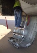5' Gear & Wheel Well Cadet Ladder on MD80-90 series aircraft