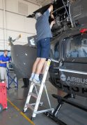 5' LNC Lite Aluminum Ladder with Airbus helicopter in action
