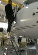 6' LNC Pylon Engine Ladder on front of Gulfstream V Jet