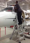 6' LNC Pylon Engine Ladder on Embraer Phenom 100 windshield