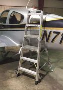 6' LNC Pylon Engine Ladder with Cirrus SR22 on tail