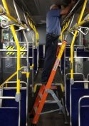 7' Bus and Truck Interior Ladder inside bus