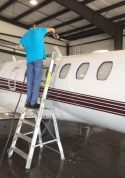 8' LNC Pylon Engine Ladder on Citation Jet CJ4