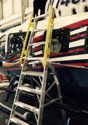 8' LNC Pylon Engine Ladder with helicopter