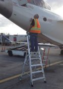 9' LNC Pylon Engine Ladder with Bombardier CRJ on tarmac