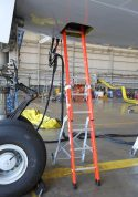 E&E Lite Ergonomic Safety Ladder in Boeing 777 E&E compartment
