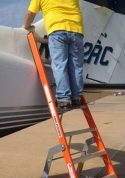 7' Fiberglass MRO Cadet General Aviation Ladder on Cesna Jet